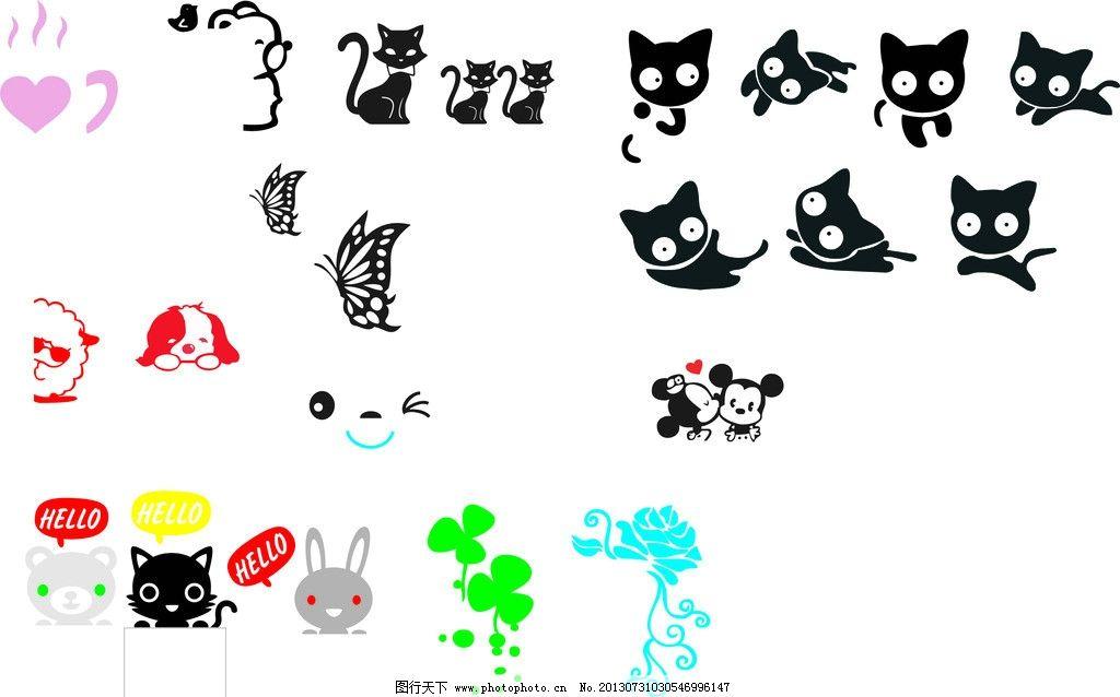 开关贴 可爱卡通动物图片
