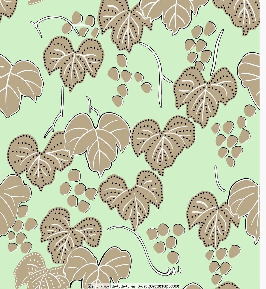 底纹 底纹边框 服装面料 花边花纹 墙纸设计 设计 叶子 植物 纺织品