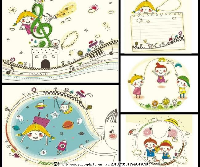 ai 版画 笔记本 边框相框 彩铅画 插画 宠物 底纹边框 儿童插图 儿童