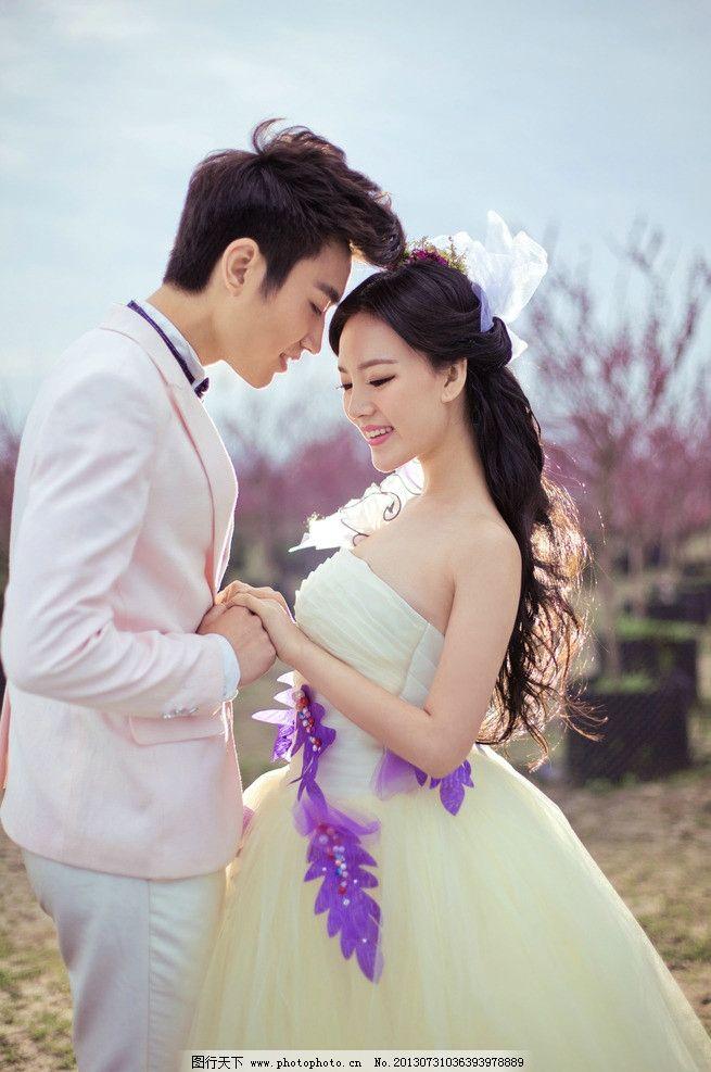 婚纱摄影 韩式婚纱照 影楼样片 婚纱摄影图 水景婚纱照 婚纱照 桃花