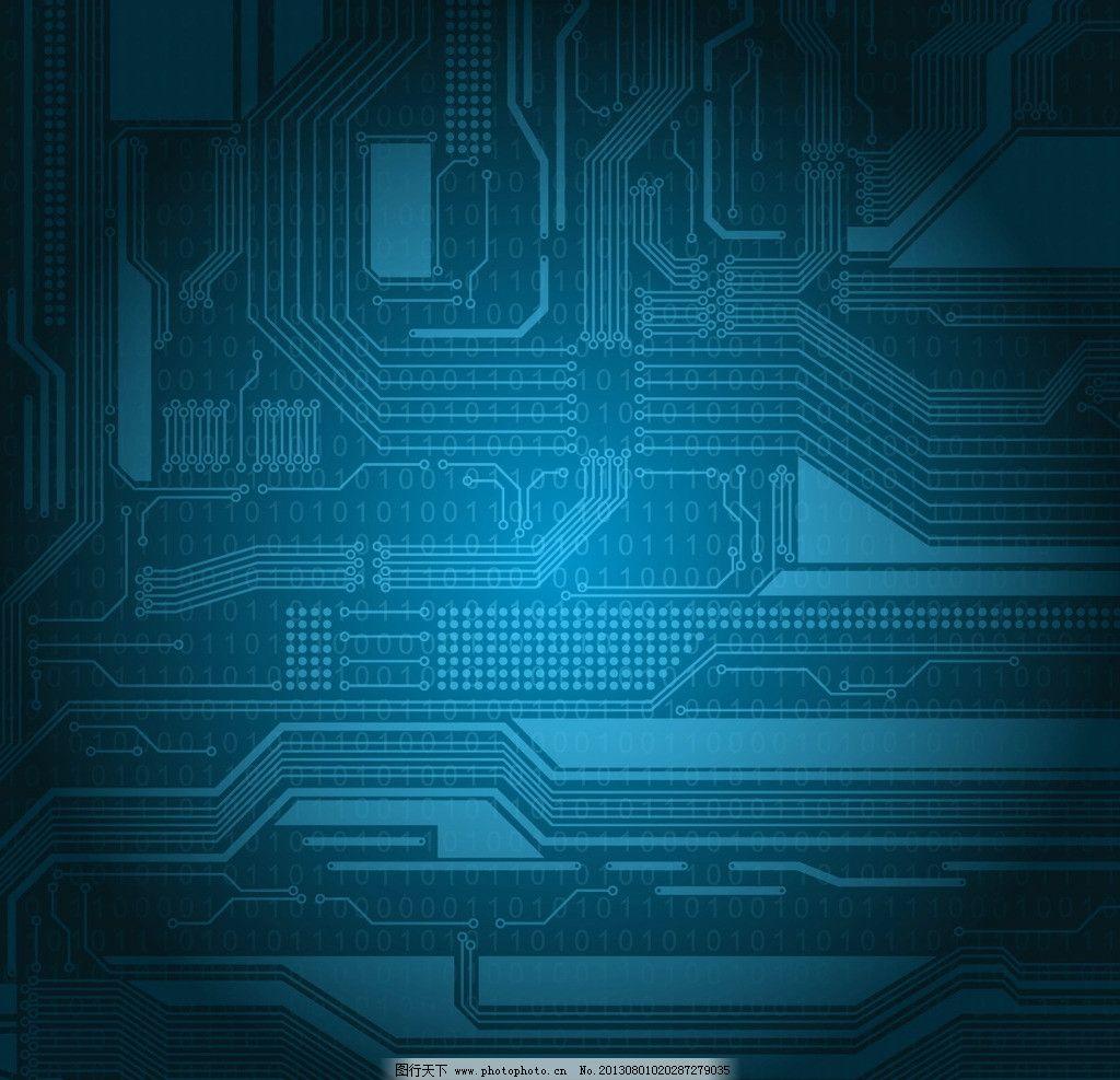 科技 线条 电路板