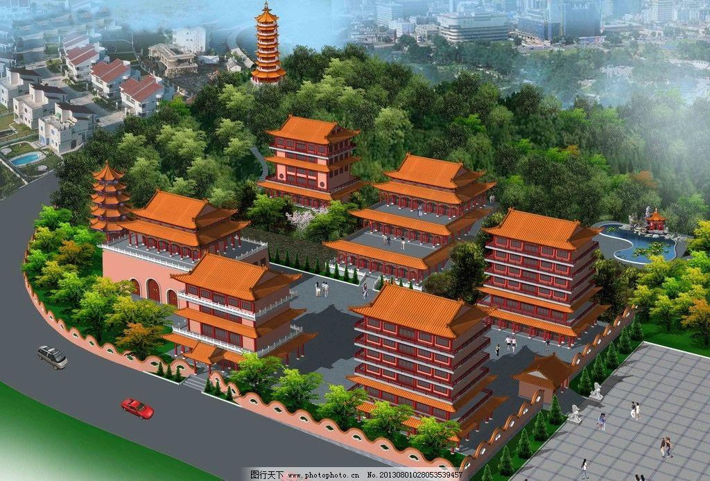 古建筑规划图 仿古 古建 规划图 鸟瞰图 清式建筑 建筑设计 环境设计