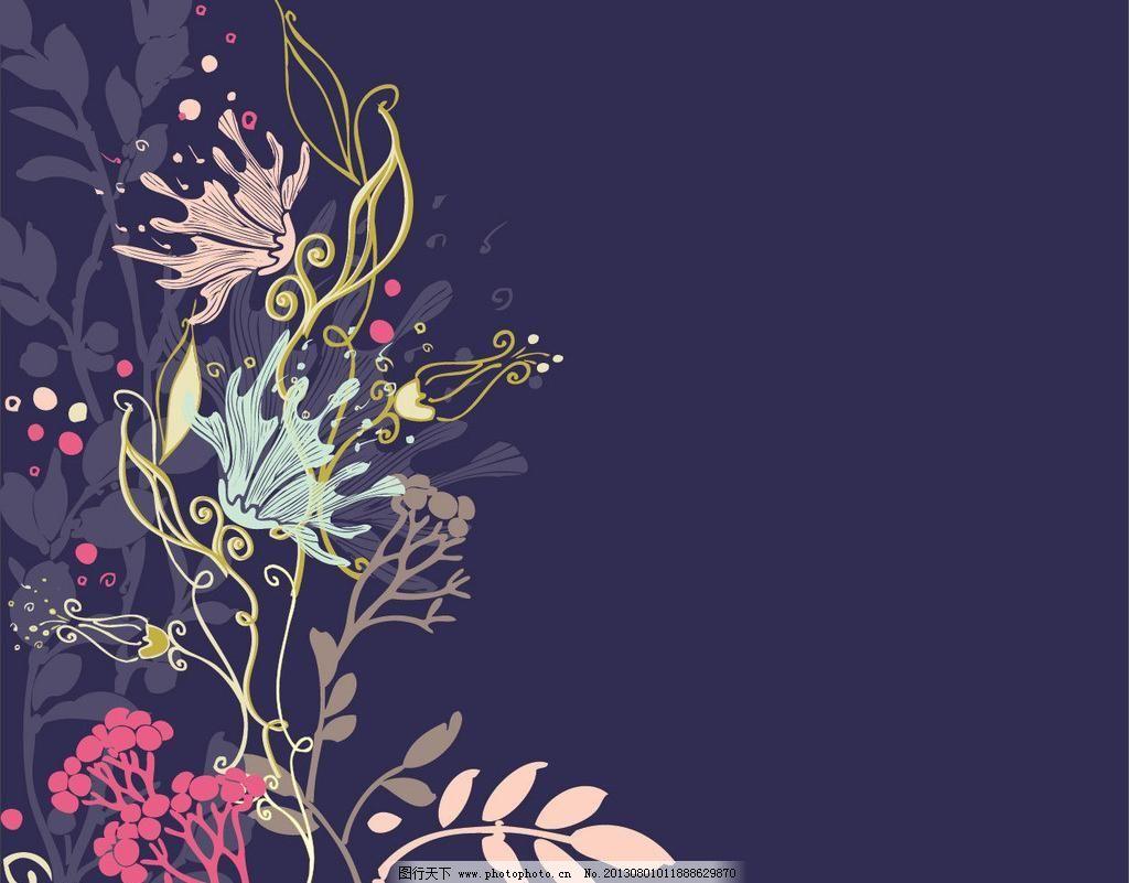 背景墙 花纹 底纹 纹理 花边 植物 藤蔓 叶子 背景 唯美 花朵 树枝