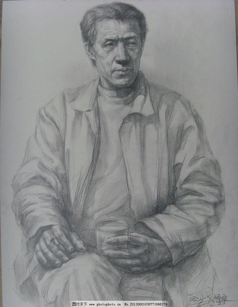 素描人物 半身人物素描 文化艺术 绘画 铅笔画 美术绘画 摄影 96dpi