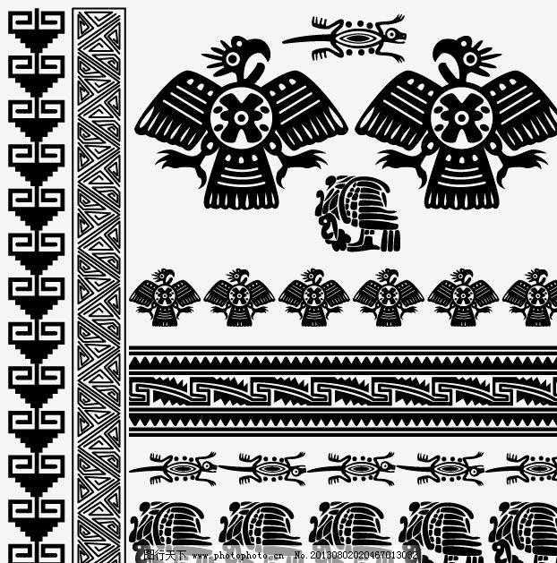 花纹边框 图案 图样 纹样 花样 花边 埃及风格 装饰画 图形