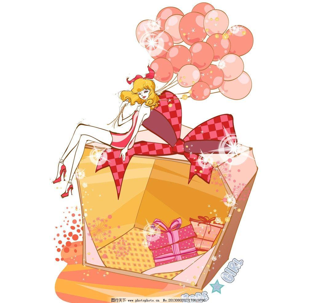 韩国手绘购物美女 都市 逛街 白领 贵妇 少妇 鞋子 化妆品 珠宝