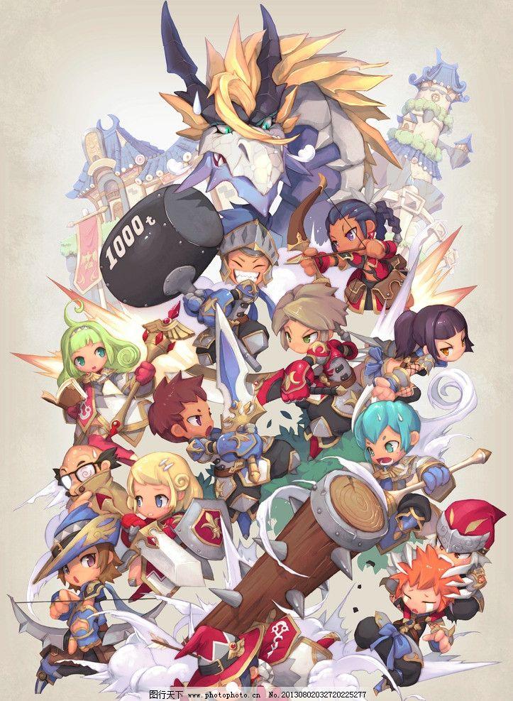 梦幻龙族 q版 游戏原画 游戏人物 原画 游戏 可爱造型 海报 人物 psd