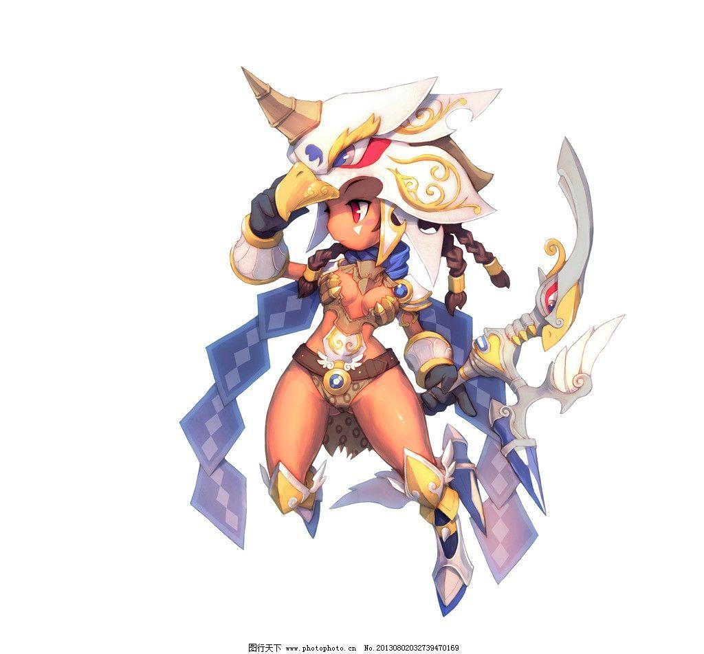 梦幻龙族 游戏原画 游戏人物 可爱造型 射手 源文件