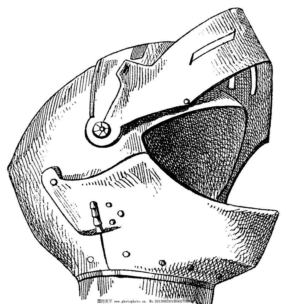 头盔 手绘 黑白画图片