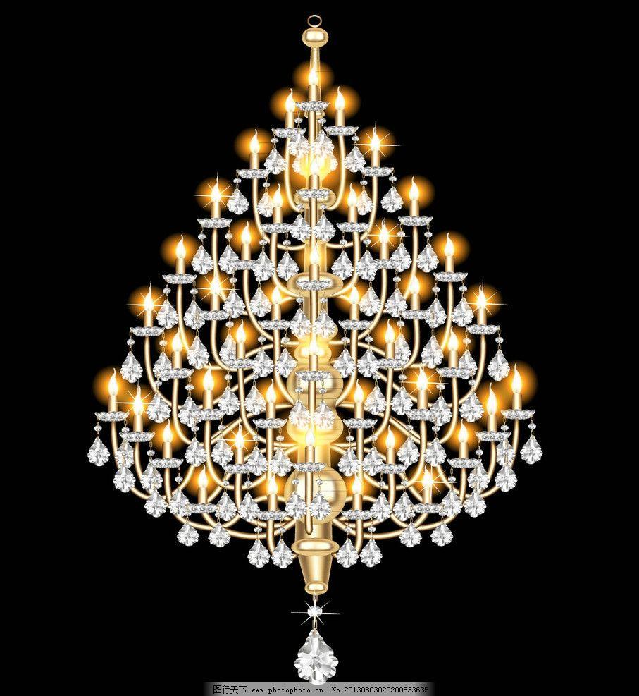 欧式华丽吊灯 钻石 玻璃水晶 蜡烛 欧式 华丽 吊灯 灯具 装饰灯 古典