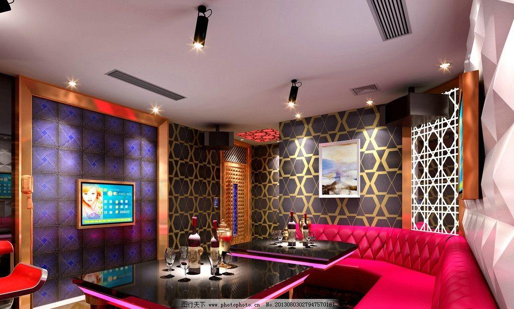 室内效果图 沙发 射灯 茶几 酒水 ktv室内装修 包房 雅间 室内设计