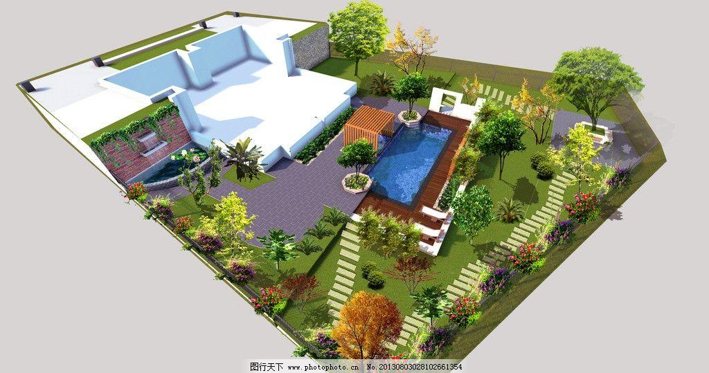 别墅花园设计图片