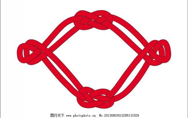 中国结 结 红色中国结 喜庆 春节 图案 传统图案 传统花纹 绳子 红色