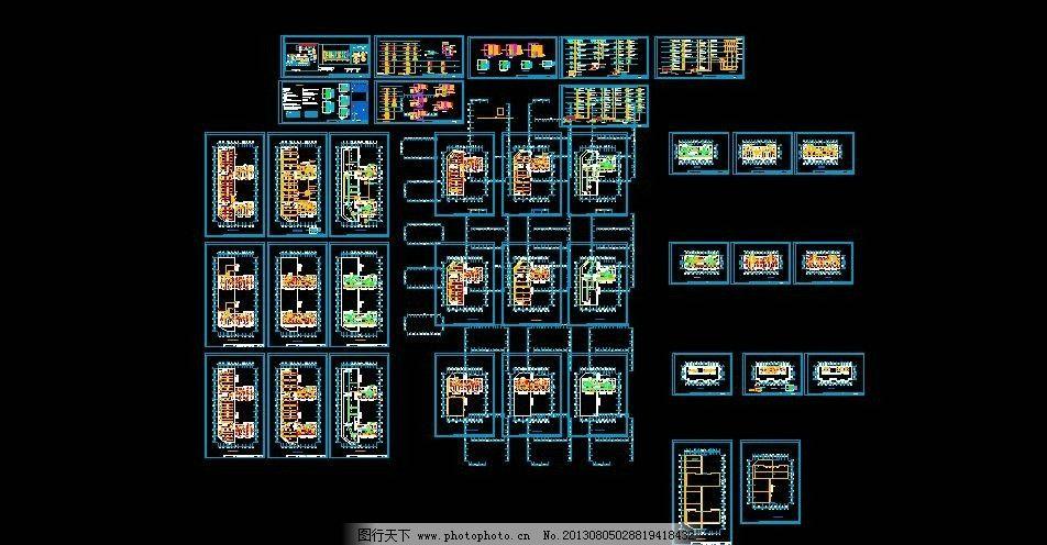 全套配电设计 设计施工说明及图例 施工图纸 cad设计图 源文件 dwg