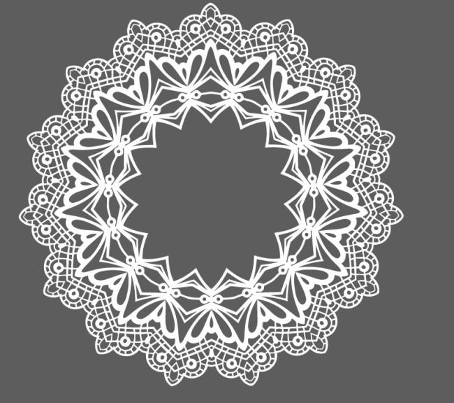 蕾丝圆形矢量花纹花边免费下载 花边 花纹 蕾丝 面料 圆形 蕾丝 圆形