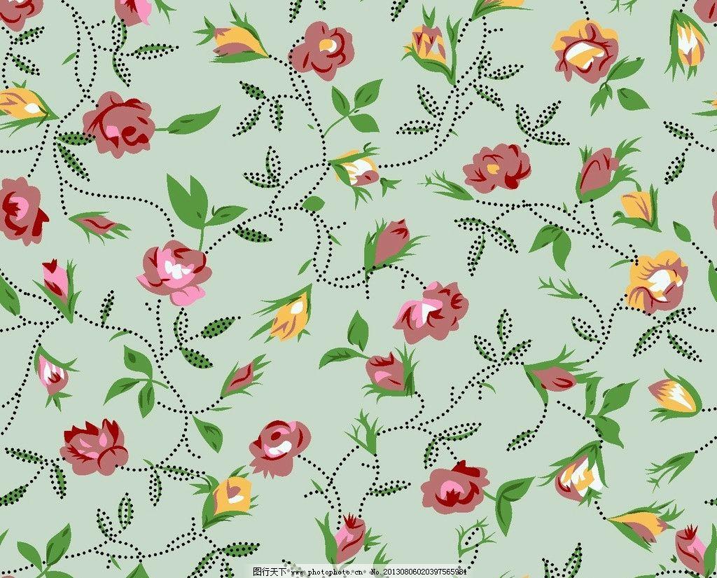 服装面料图案 面料设计 墙纸设计 服装面料 小碎花 花卉 植物 叶子