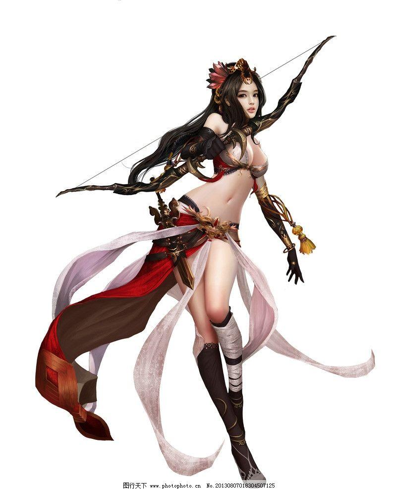 游戏原画 游戏人物 游戏 动漫人物 网游人物 手绘美女 美女 女弓手