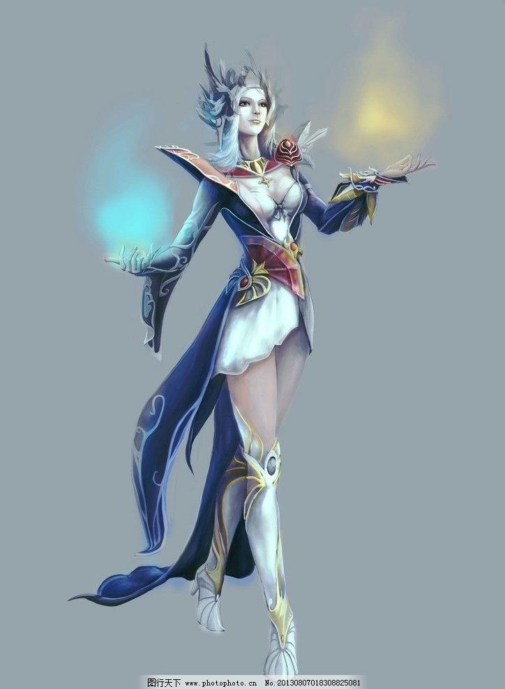 动漫人物 游戏原画 网游人物 手绘美女 美女 欧美人物 女法师 动漫