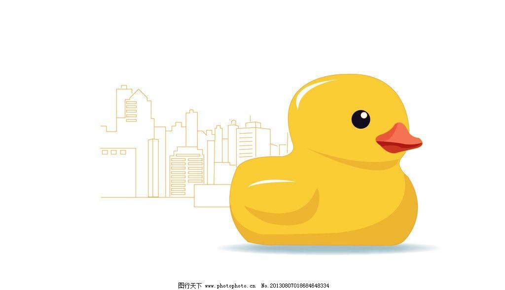 大黄鸭 城市 可爱 香港大黄鸭 动漫 漫画 手绘 其他 动漫动画 设计