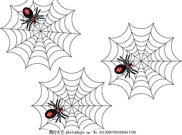 蜘蛛动物头饰简笔画