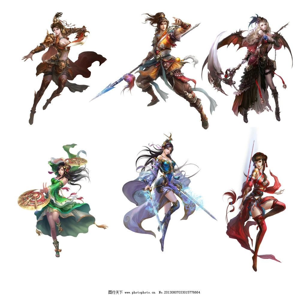 游戏人物素材 游戏人物 游戏 动漫人物 游戏原画 网游人物 美女 手绘