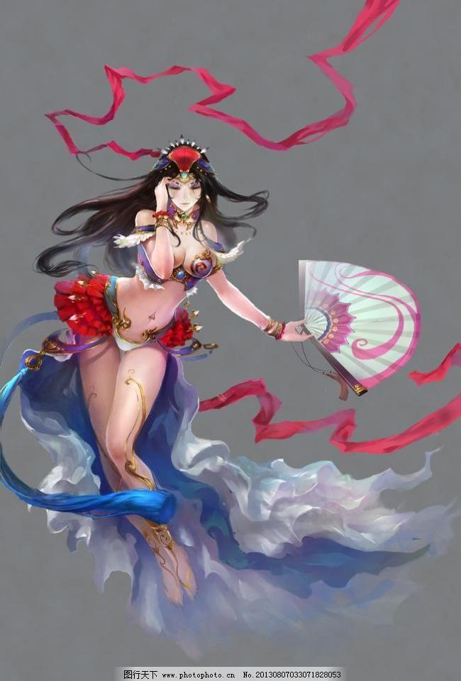 游戏人物素材 美女 手绘美女 仙女 游戏人物素材素材下载 游戏人物