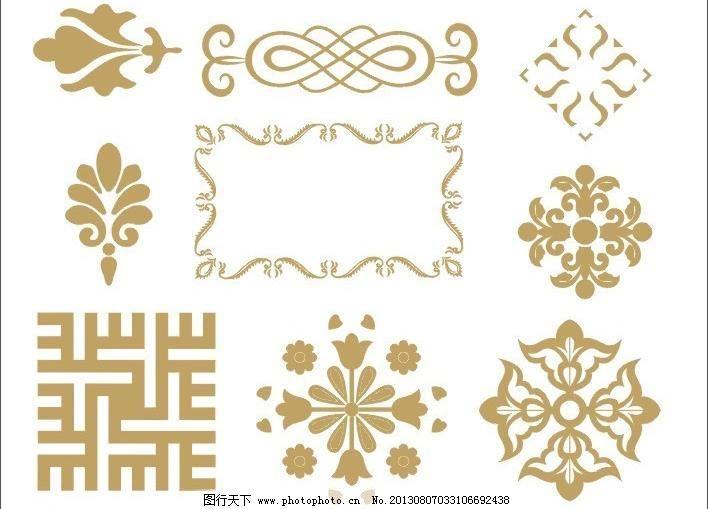 花纹 花纹边框 花边矢量素材 花边模板下载 花边 花纹 图纹 图案 中式