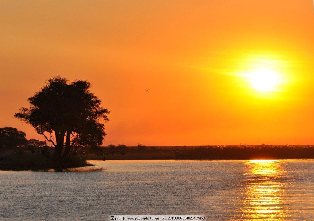 海边夕阳美景图片