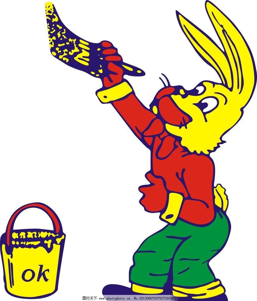 电脑壁纸 手绘兔子