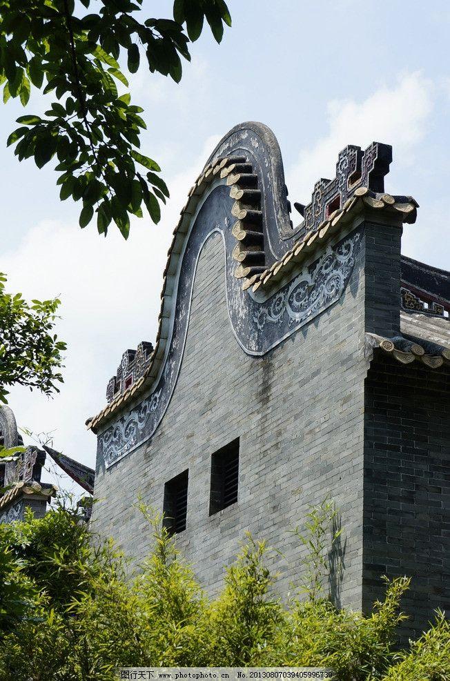 中國傳統建筑耳墻 耳墻 屋頂 建筑 中國 老建筑 老房子 墻 屋檐 房頂