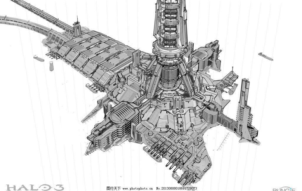 科幻基地背景 科幻 基地 背景 机械 动漫 其他 动漫动画 设计 100dpi