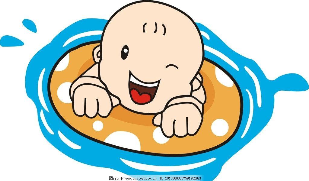 婴儿游泳图片