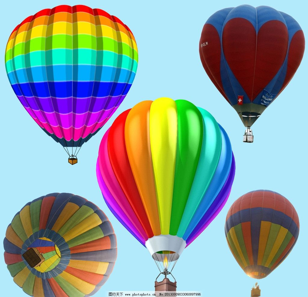 好看的热气球 彩色热气球 热气球源文件 热气球ps图片 psd分层素材 源