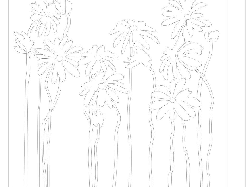 移门图案 艺术玻璃 太阳花矢量素材 太阳花模板下载 太阳花 花 欧式