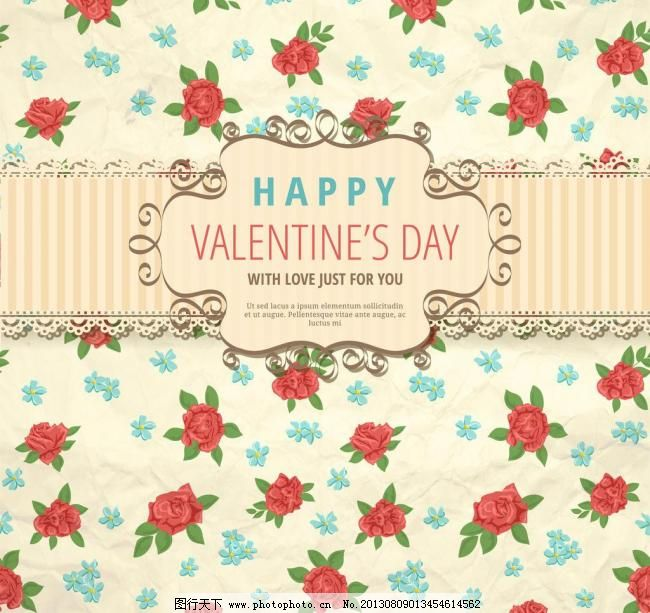 古典花纹 红玫瑰 红色 情人节背景 欧式花纹 花边 边框 红桃心 love