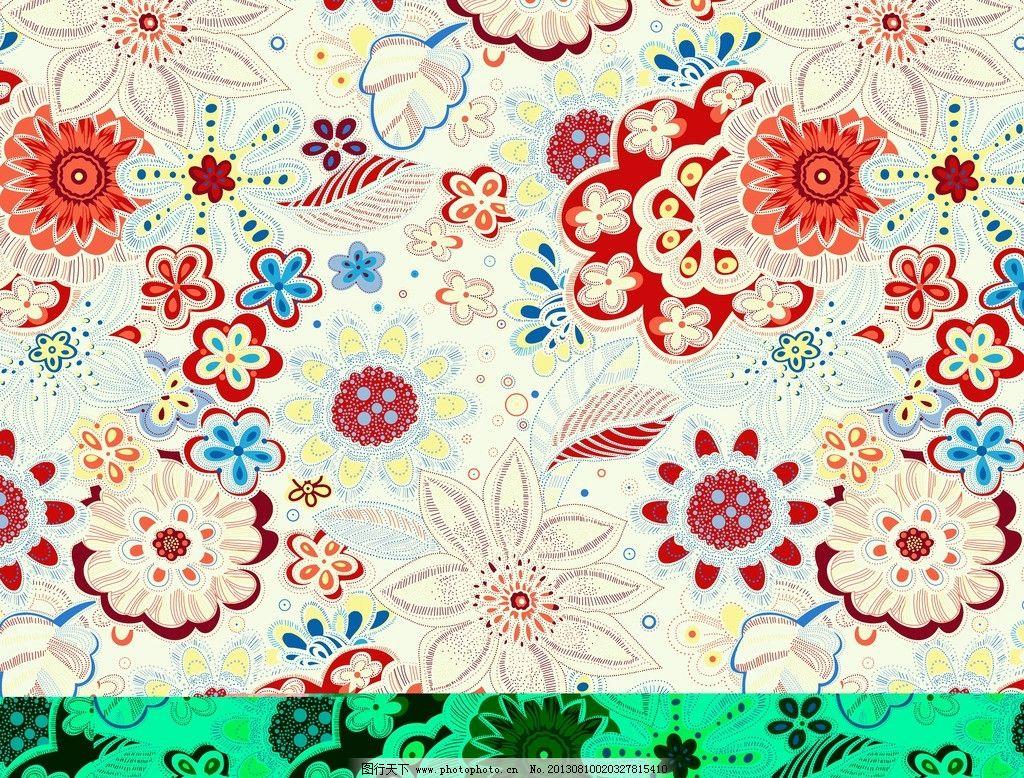 面料花纹 面料设计 墙纸设计 服装面料 纹样 花卉 小碎花 底纹 花边花