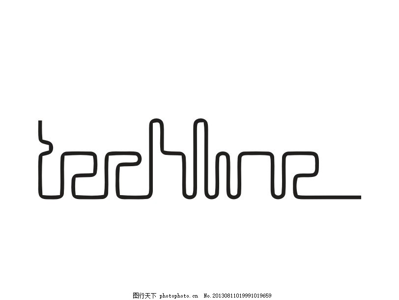 线条logo 细线 外国 国外 西方 欧美 西式 欧式 另类 非主流