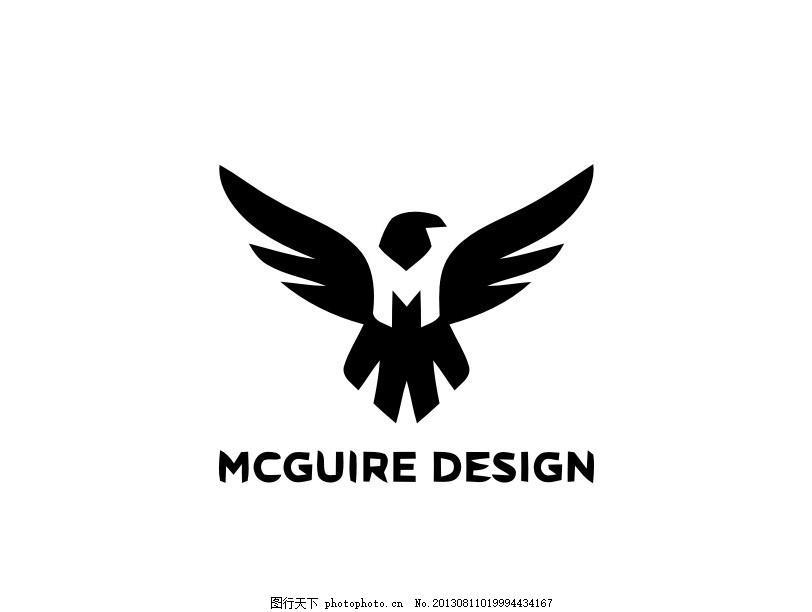 老鹰logo 飞鹰 外国 国外 西方 欧美 西式 欧式 另类 非主流