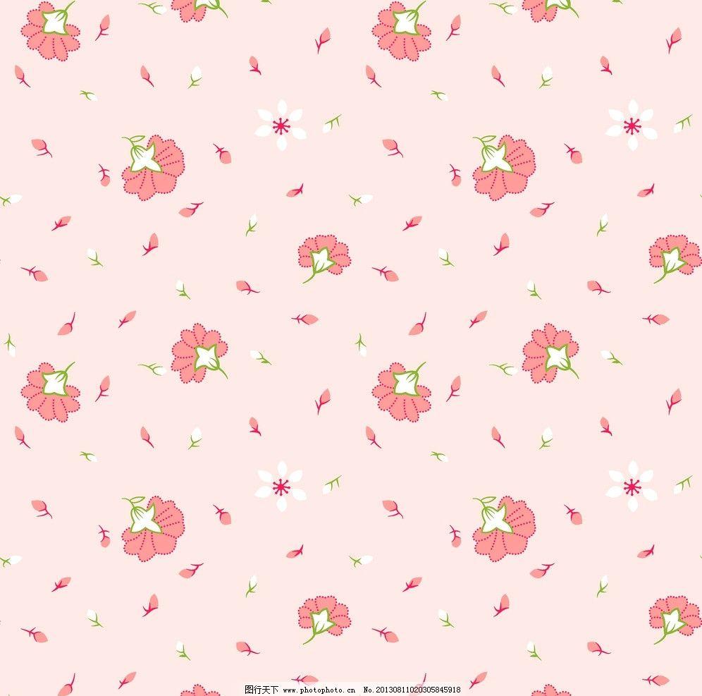 面料花纹 面料设计 墙纸设计 服装面料 小碎花 花卉 植物 底纹 叶子