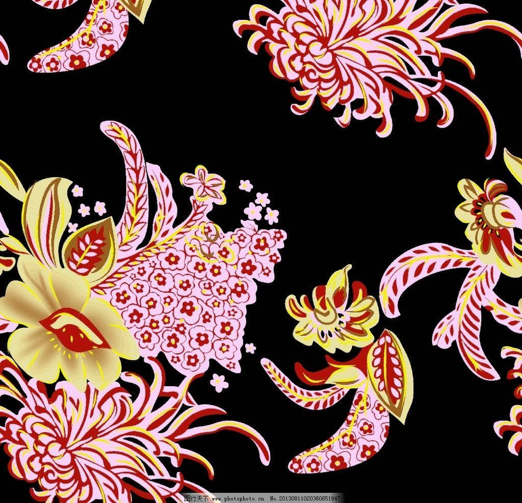 面料花纹 面料设计 墙纸设计 服装面料 花卉 植物 底纹 植物纹 花边