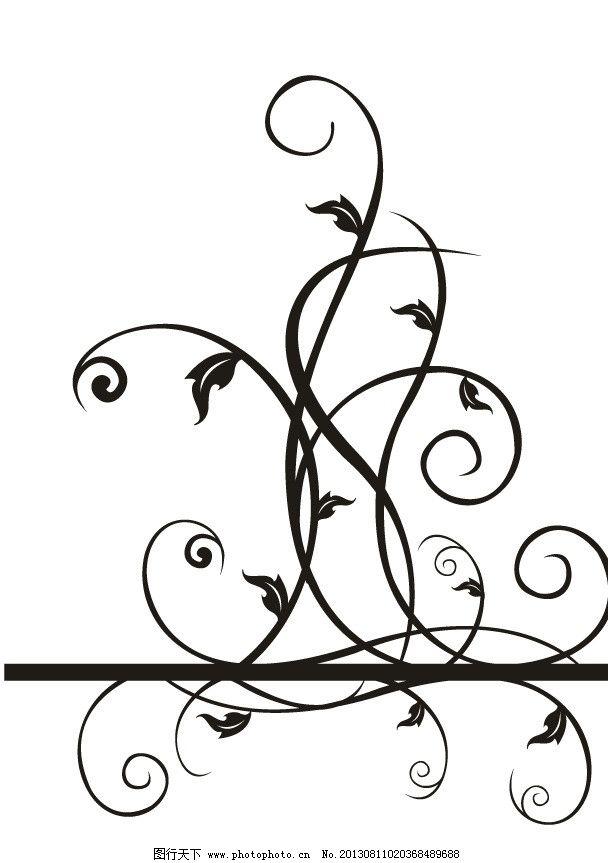 简单花纹 简约花纹 花纹 藤蔓 三角形 欧式花纹 花边 手绘花纹 线描