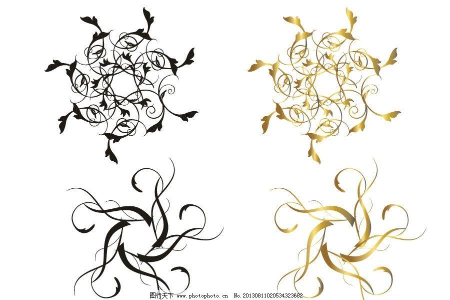 古典花纹 藤蔓矢量素材 藤蔓模板下载 藤蔓 欧式花纹 花边 花纹 手绘