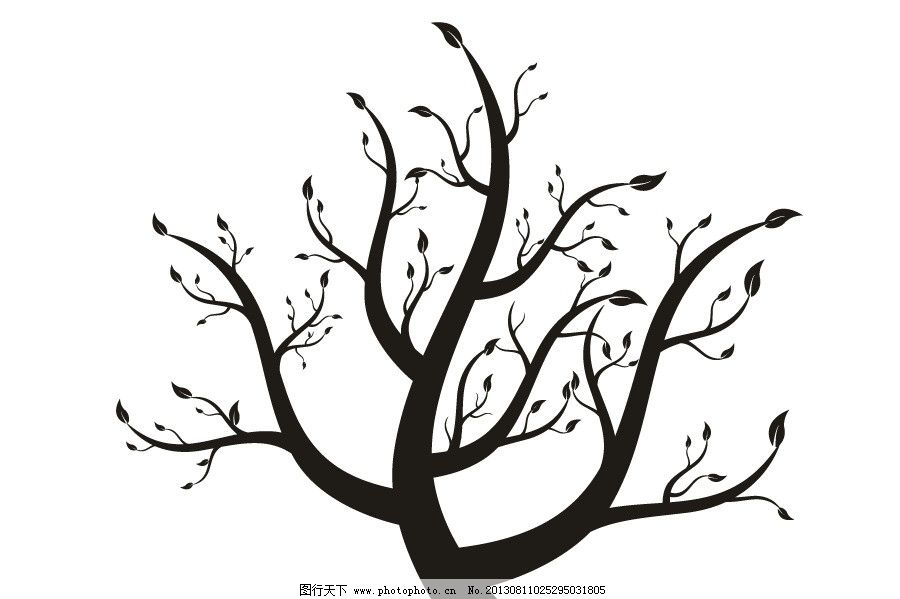 大树图片简笔画动物家