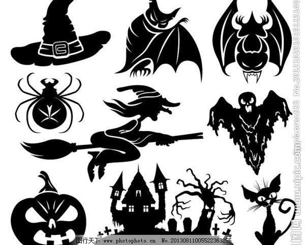 小型蝙蝠纹身矢量图