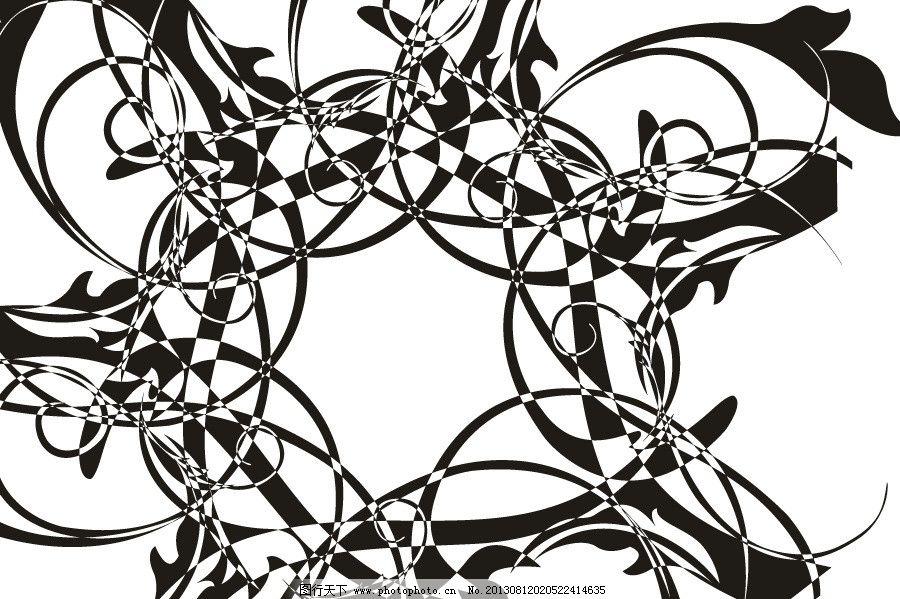 黑白图 圆纹 天花板 欧式花纹 花边 花纹 手绘花纹 线描花纹 手工花纹
