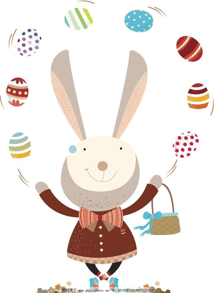 卡通兔 小动物 动物 可爱 兔子 漫画 卡通 插画 杂技 杂耍 彩蛋 其他