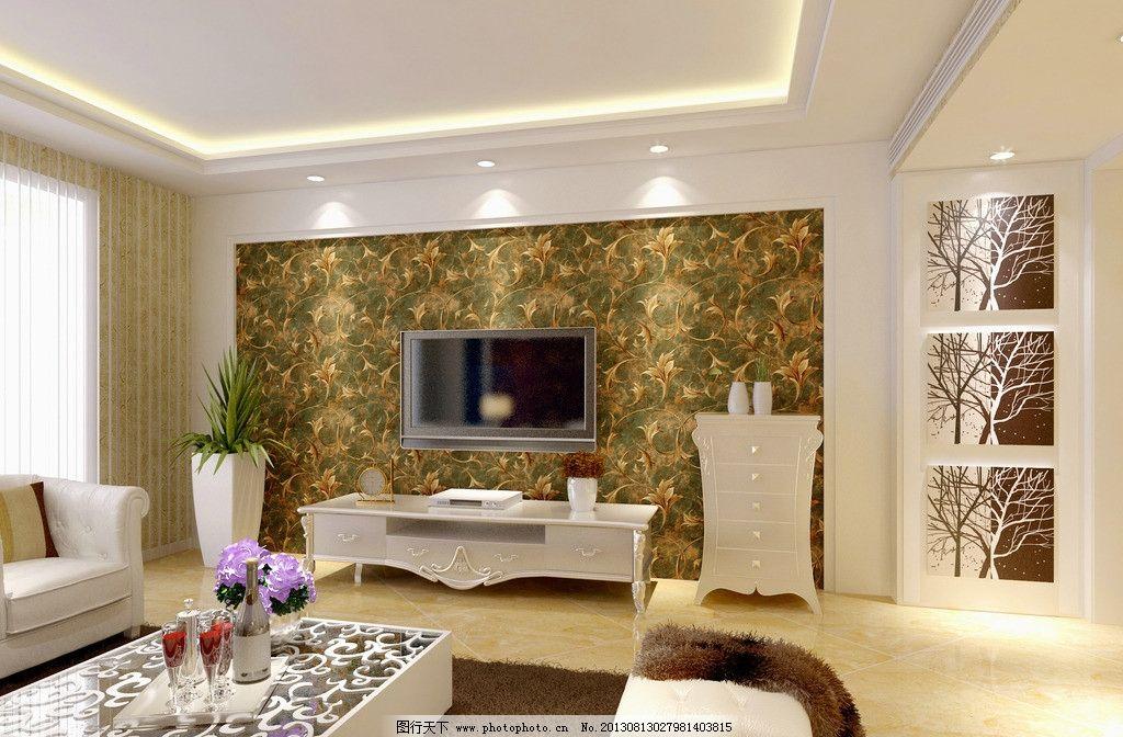 电视背景墙 室内图片_室内设计_环境设计_图行天下图库