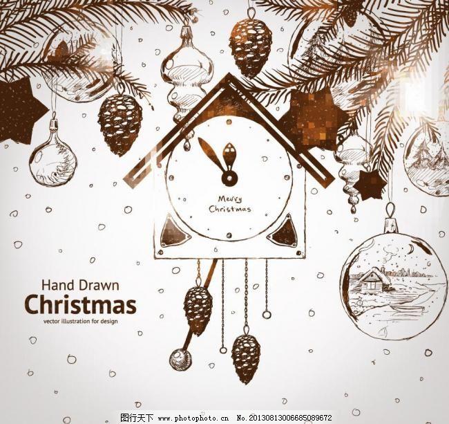 新年贺卡 节日素材 圣诞主题