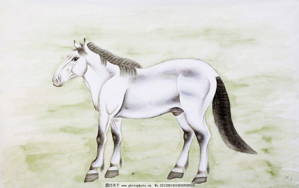 绘画马 绘画 中国画 民俗 画作 生肖 马年 大马 绘画书法 文化艺术
