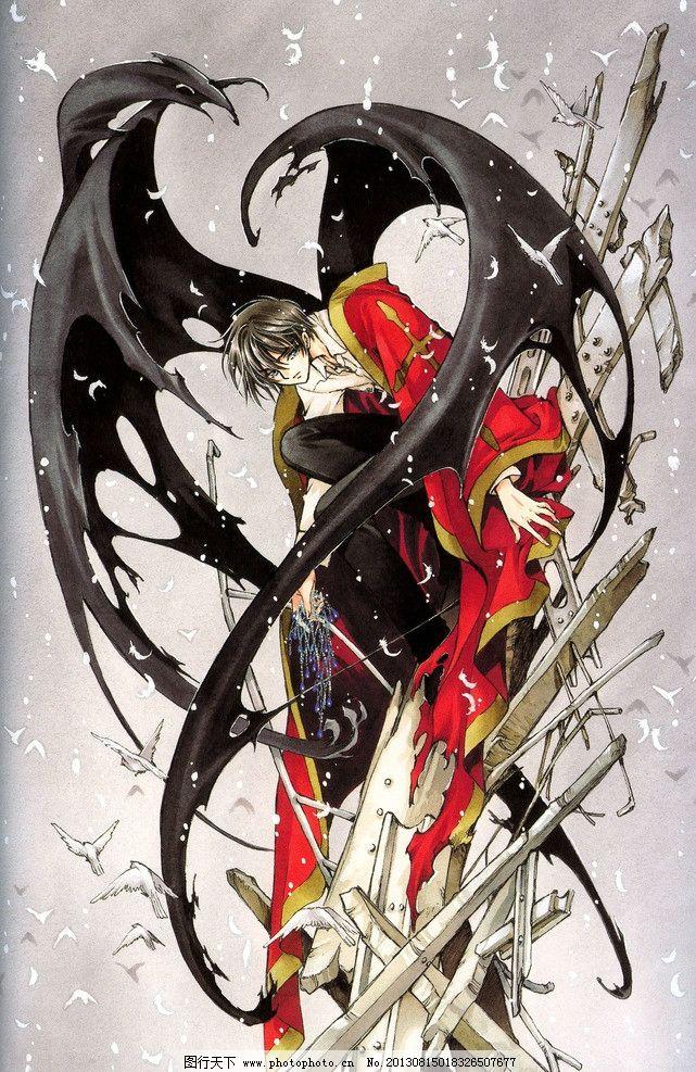 动漫人物 原画 x战记 少年 飘落翅膀 红色衣服 蜷缩 动漫动画 设计